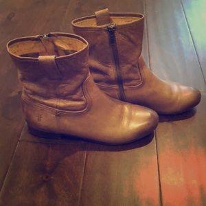 Frye Leather Boots-Jillian Short